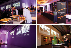 Large Screen Display design for large corporate event