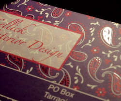Spot Varnish business card design