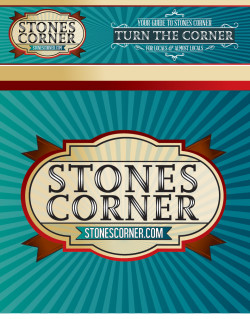 Stones Corner logo and branding